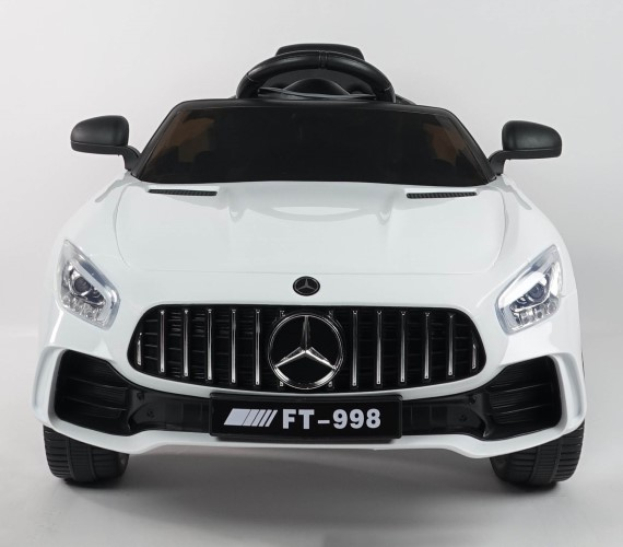 FT-998 AMG 12V Battery Operated Ride On Car For Kids (2 to 5 yrs) with Remote Control, Music System(White)