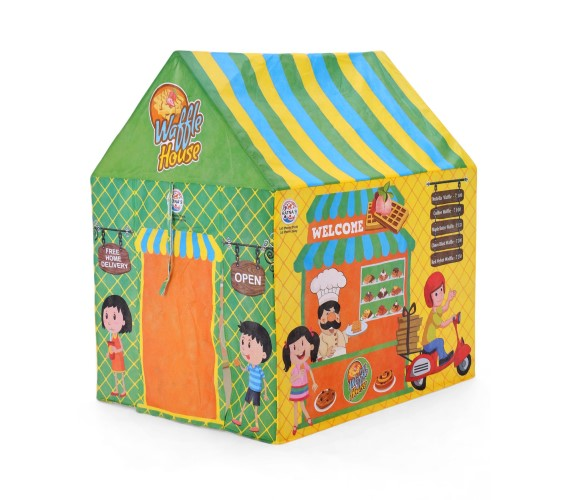 PP INFINITY Playhouse Jumbo Size Waffle House Tent For Kids, Fordable Tent House, With Water Proof (Multi-Color)