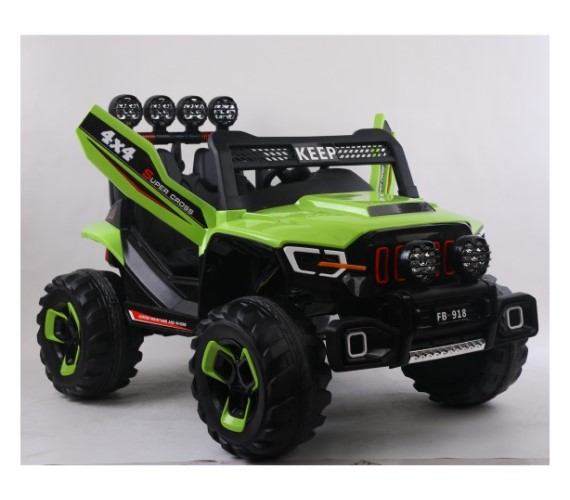 PP INFINITY Big Size Two seater Jeep 12V Battery Operated Ride on Jeep For Kids With Remote Control(FB-918)-Green