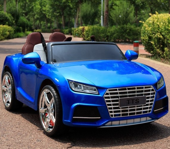 PP INFINITY Audi Tts Battery Operated Ride-On Car for Kids with Remote Control and Music System(2 to 6 yrs)-Painted Blue