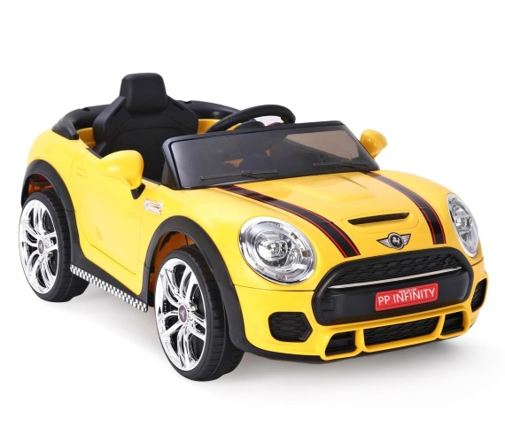 PP INFINITY 12V Battery Operated Ride On Car For Kids, Model No MKS-001 Car For Kids With Remote Control 1 to 5 yrs(Made in India)-Yellow